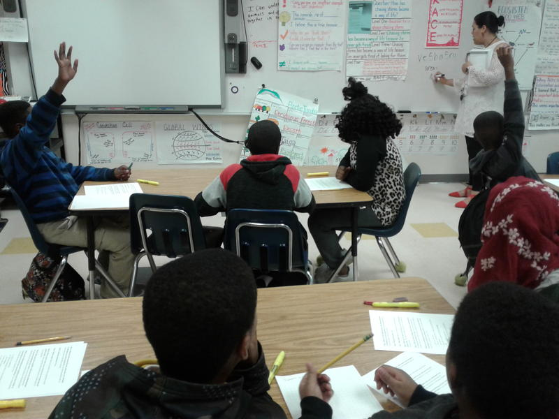 Students participate in a twice weekly, two-hour after school program at Billingsville that mixes physical exercise with reading and math instruction