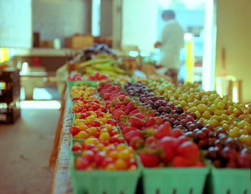 Fresh produce at Charlotte's regional Farmer's Market.