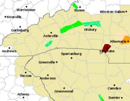 Flash Flood Warning In Effect Across Mecklenburg County WFAE