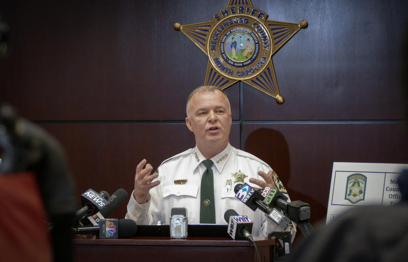 Mecklenburg County Sheriff Irwin Carmichael at a March 13 press conference.