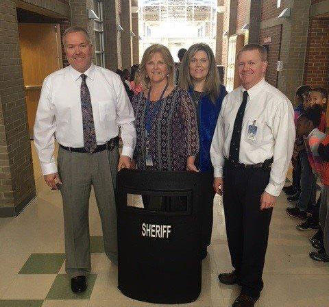 Iredell County Sheriff Darren Campbell announced that his department will use $45,000 in seized drug money to purchase ballistic shields for elementary schools in the county.