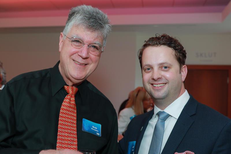 NPR film critic Bob Mondello and Jeff Bundy, WFAE's director of advancement.