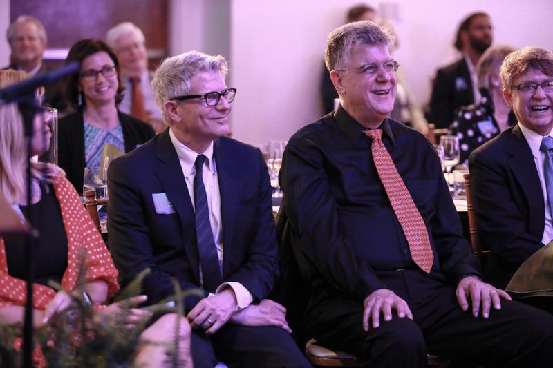 NPR movie critic Bob Mondello, center, and CBS News producer Jay Kernis.