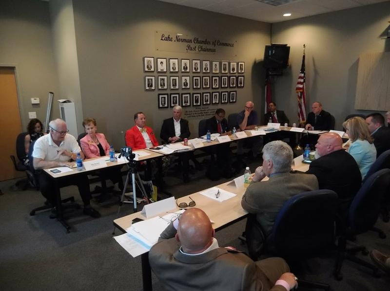 The NCDOT's I-77 Local Advisory Committee met Thursday in Cornelius.