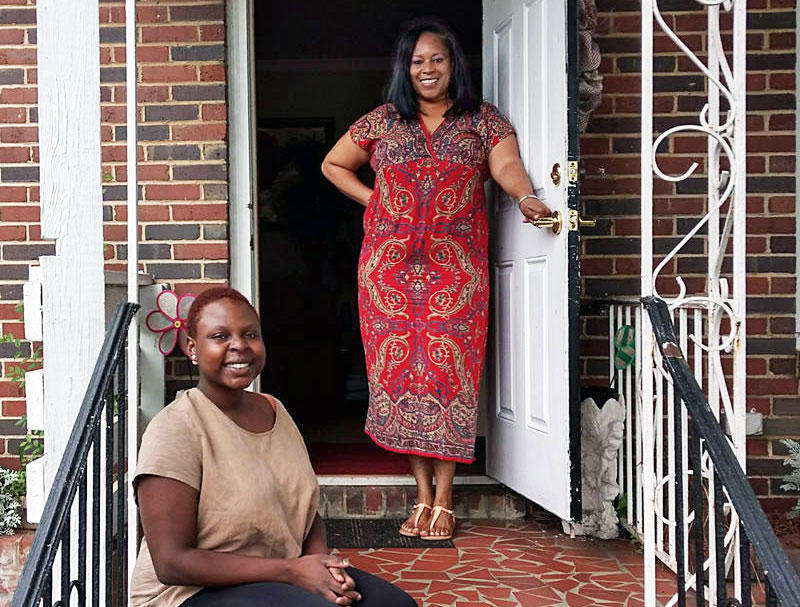 Lyn Alexis (left) lives at Gracious Hands, a transitional house run by Sonja Chisholm. Alexis's goal is her own home.