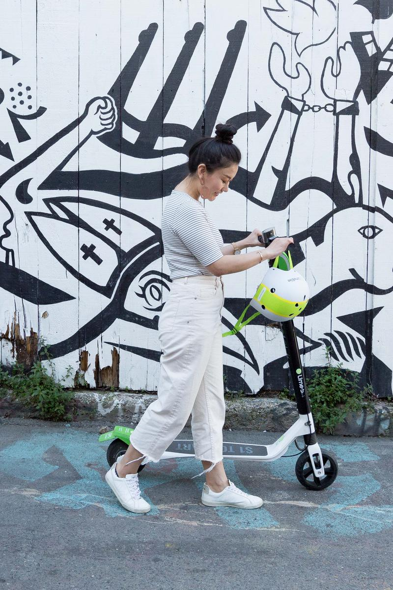 Lime has begun introducing its electric rental scooters in Charlotte. The company expects to have about 100 by the end of the weekend.