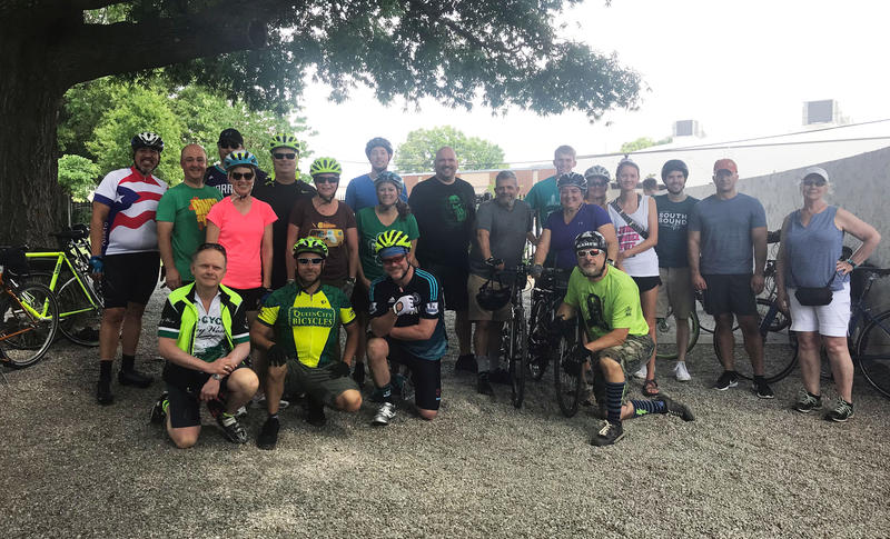 Bike riding group commemorates the ride of Captain Jack.