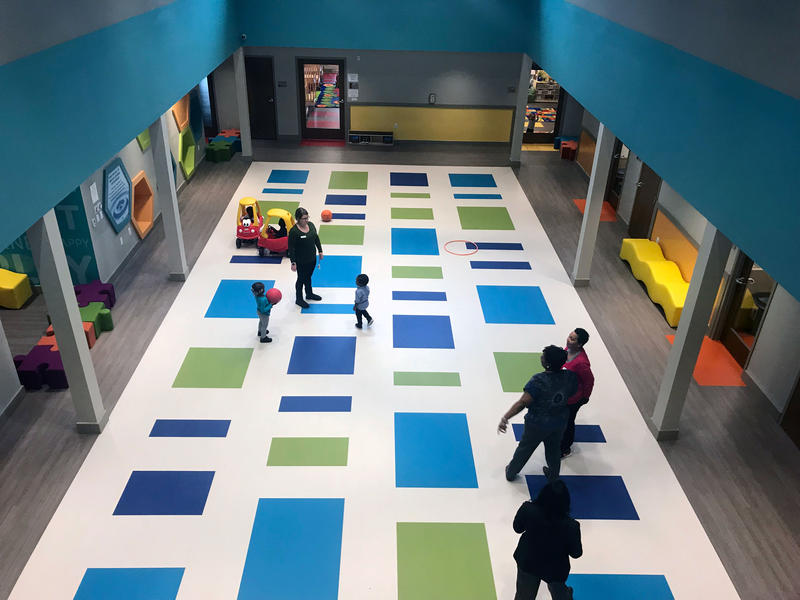 The main play area in the Howard Levine Child Development Center.