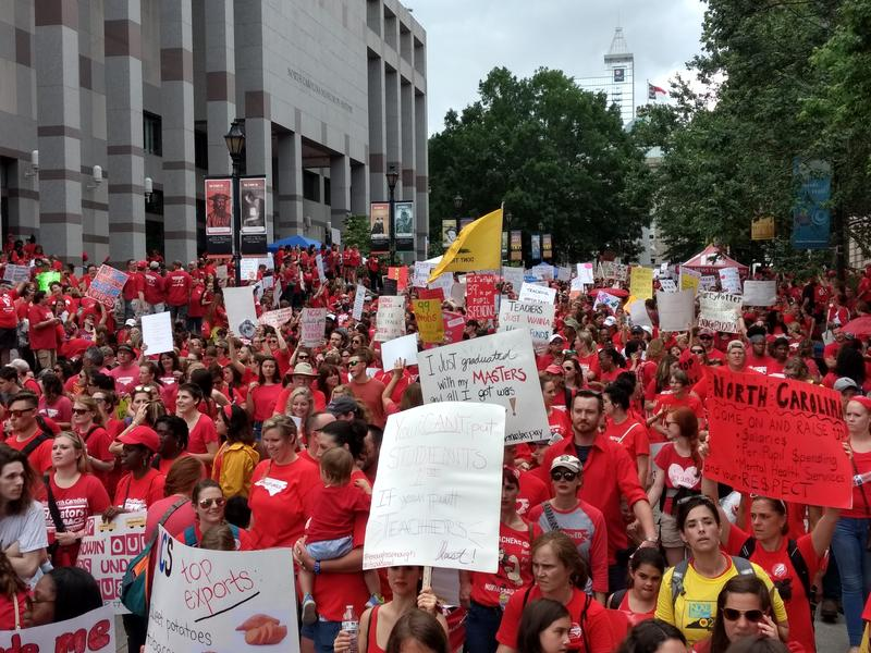 Teachers march on Raleigh for the Red for Ed protest