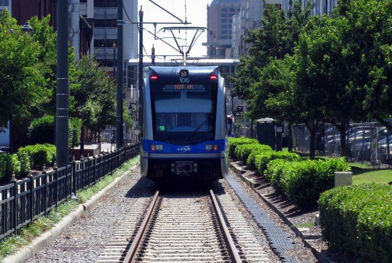 The LYNX Blue Line in Charlotte's SouthEnd