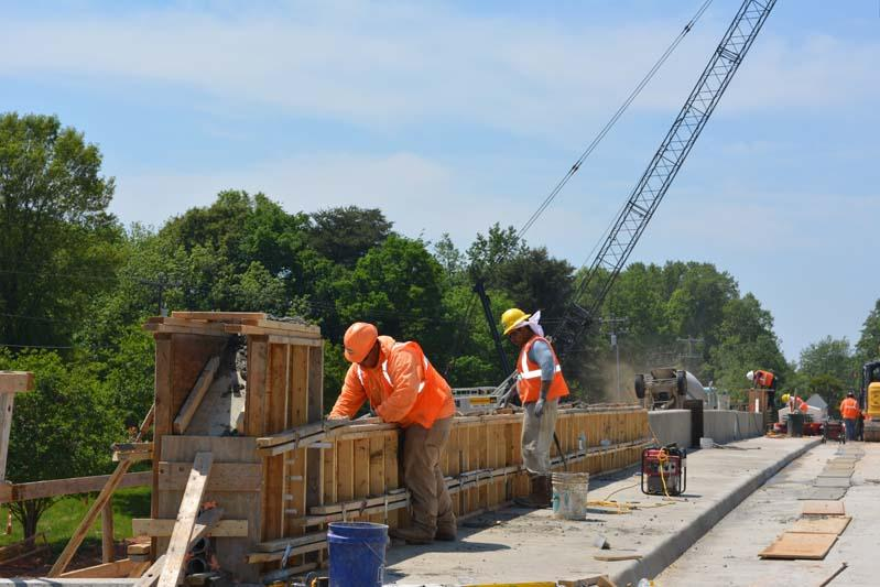 Construction on the I-77 toll lanes and related projects like this bridge is continuing.