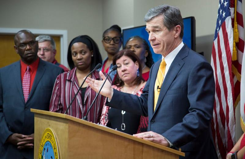 Gov. Roy Cooper vetoes the state budget.