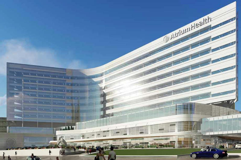 An artist's rendering of a new Atrium Health facility.