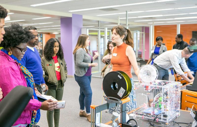 The Makerspace at Johnson C. Smith University.