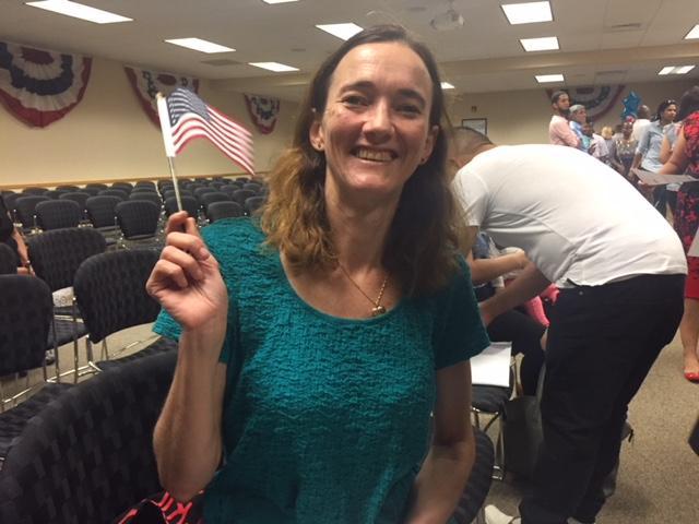 New U.S. citizen Carol Kertzman