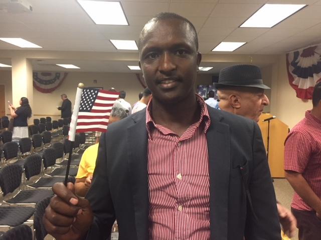 New U.S. citizen Eric Rwabuhihi