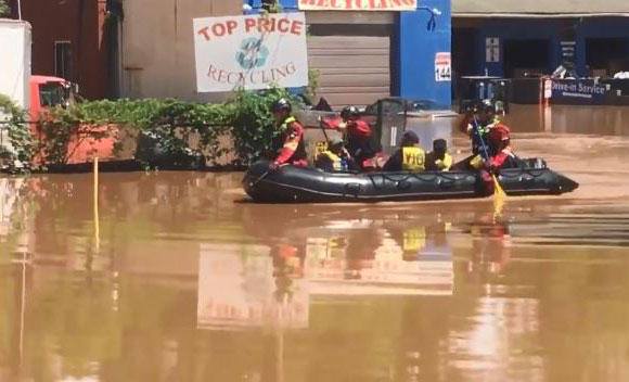 fire department responds to flooded business in northeast charlotte