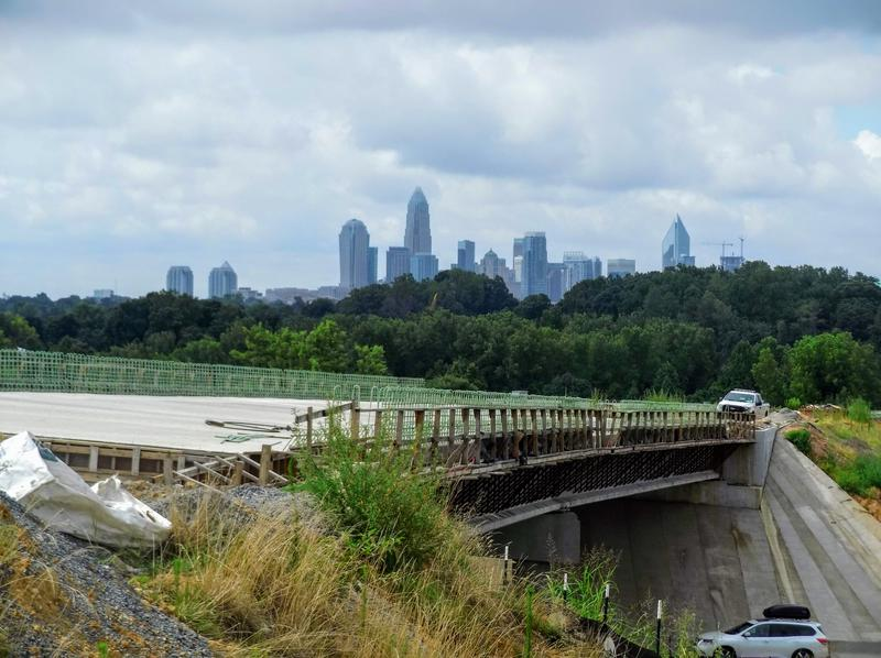A new bridge will carry northbound I-77 toll lanes over I-85 in Charlotte.
