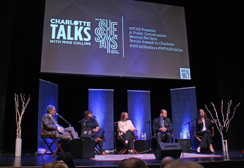 WFAE's Public Conversation on She Says at Charlotte's McGlohon Theater Thursday, Aug. 2, 2018.