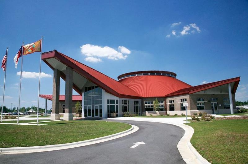 The Lumbee Tribal Housing Complex in Pembroke, North Carolina.