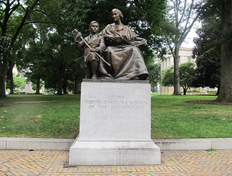 Monument to the North Carolina women of the Confederacy in Union Square, Raleigh. One of the three statues at the Capitol Gov. Cooper proposed to move.