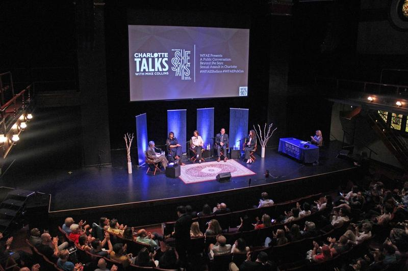 'She Says' podcast host Sarah Delia joined Mike Collins along with law enforcement officials, victims' advocates, and a live audience for a special Public Conversation, Beyond She Says: Sexual Assault in Charlotte from McGlohon Theater.