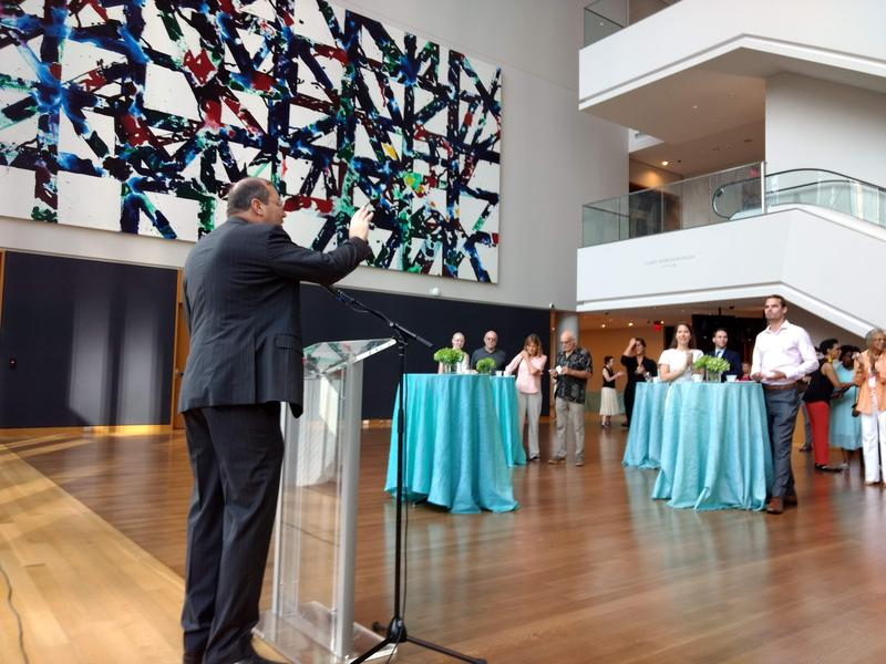 Todd Herman was introduced as the Mint Museum's new CEO at a breakfast Wednesday.