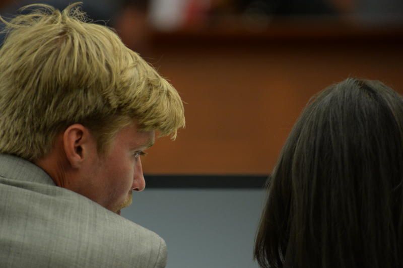 Kevin Olsen during trial in a Mecklenburg County courtroom on Tuesday