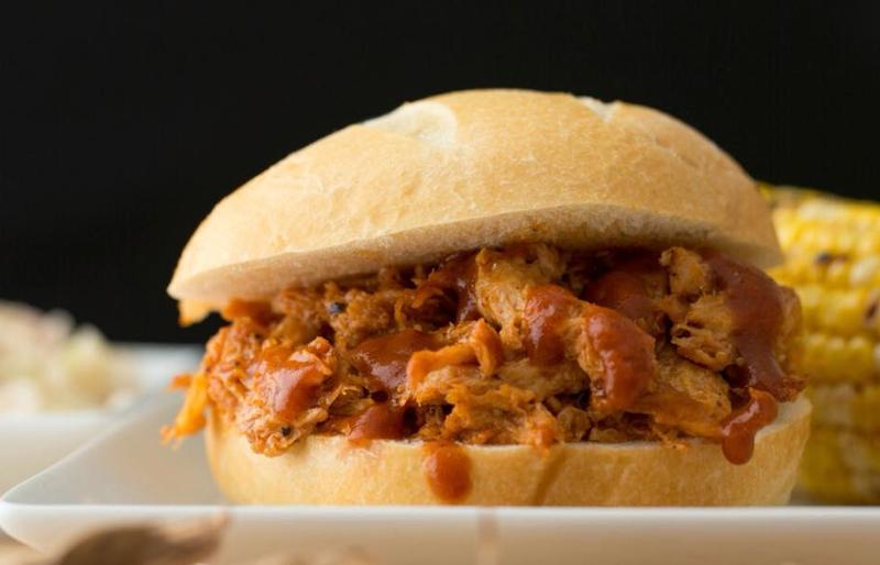 This is a barvecue sandwich — not to be confused with a barbecue sandwich.