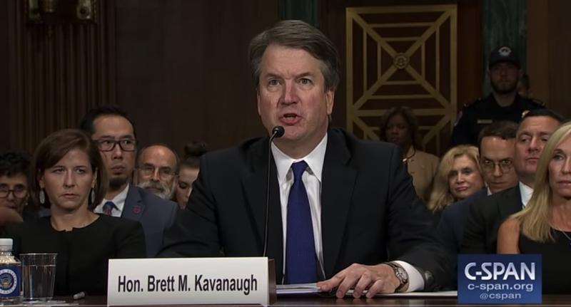 Judge Brett Kavanaugh gives an opening statement in response to an allegation of sexual assault.