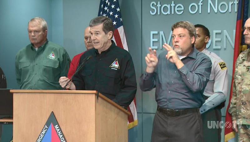 Gov. Roy Cooper says teams have rescued close to 900 people during Florence.