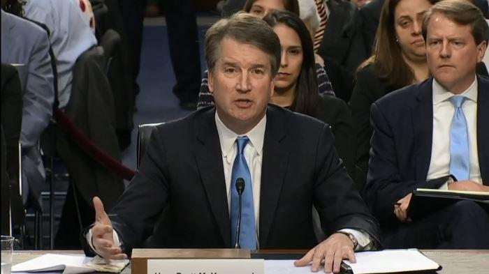U.S. Supreme Court nominee Brett Kavanaugh testifies to the Senate Judiciary Committee.