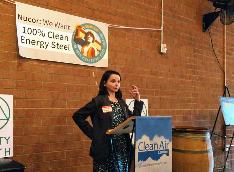 "Margaret Hansbrough of the environmental group Mighty Earth is leading the ""Stainless"" campaign, urging steelmakers to convert to 100 percent clean electricity."