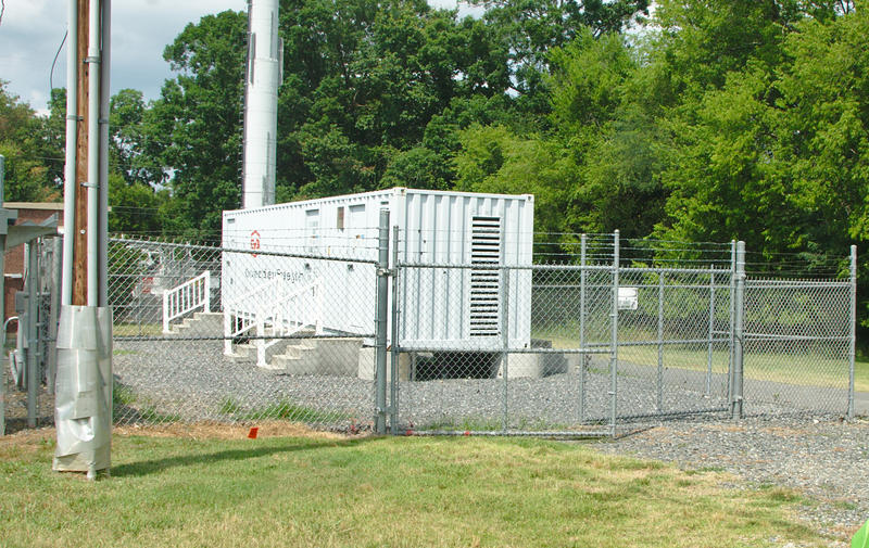 A utility-sized battery at Duke Energy's McAlpine Creek substation in 2016.