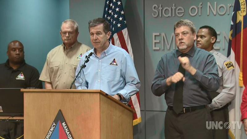 North Carolina Gov. Roy Cooper provides an update on the state's response to Michael Thursday morning.
