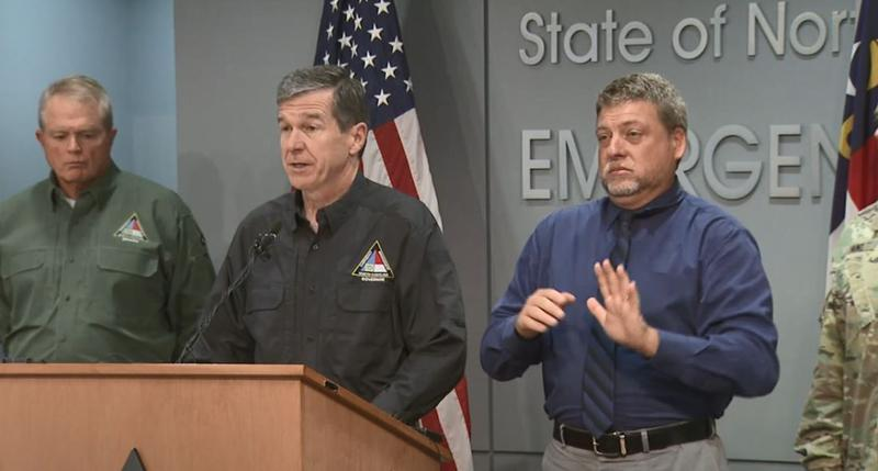 FILE: North Carolina Gov. Roy Cooper holds a press conference to discuss Hurricane Michael.