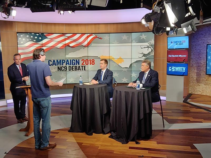 Demcorat Dan McCready and Republican Harris Mark Harris debated Wednesday night in the 9th Congressional District race.