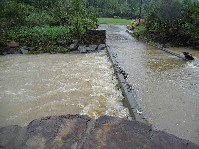 Flooding in Elizabeth Park in Charlotte.