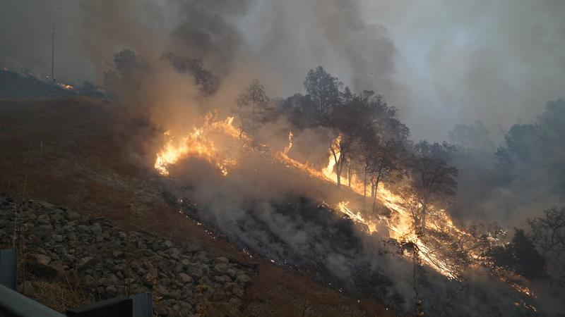 The Camp fire in Northern California's Butte County.