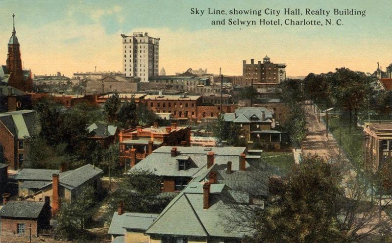 Charlotte, 1910 - Photo courtesy of Robinson-Spangler Carolina Room - Charlotte Mecklenburg Library