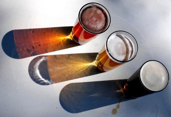 Three pints of beer.