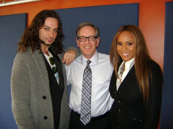 Mike with Constantine Maroulis and Deborah Cox, who are in town performing in Jekyll & Hyde through the weekend,