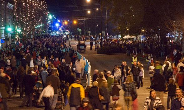 Thousands packed Main Street during the 2011 Christmas in Davidson.