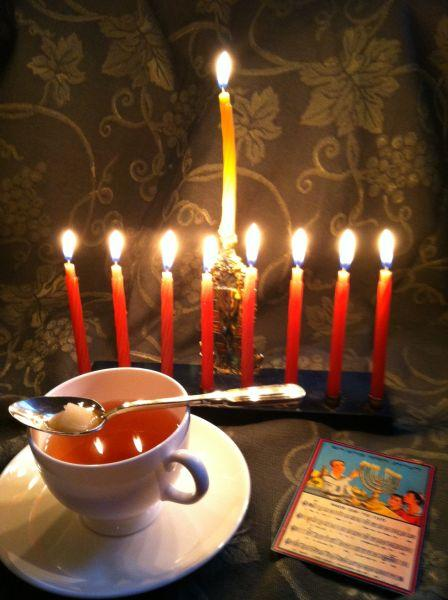 Flaming Tea Ceremony for Chanukah.