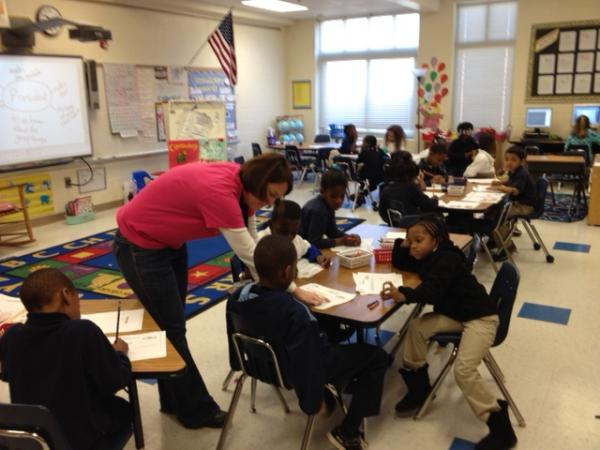 A classroom at Ashley Park Prek-8, one of four CMS schools hiring for the new positions.