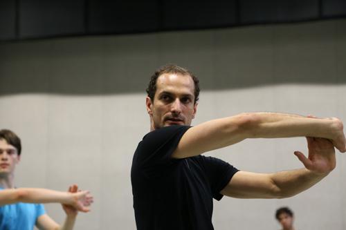 Czech dancer and choreographer Jiri Bubenicek in rehearsal with NC Dance Theatre.