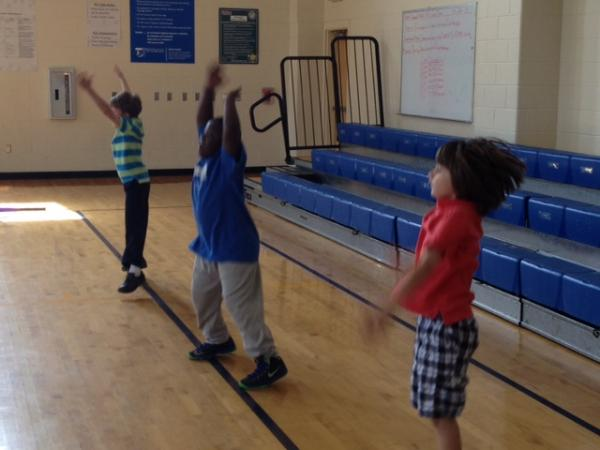 Dilworth Elementary first-graders in PE