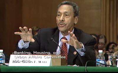 Charlotte Congressman Mel Watt speaks at a senate hearing in Washington on Thursday. He's been nominated to lead the Federal Housing Finance Agency.