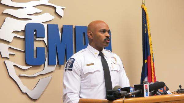 CMPD Deputy Chief Kerr Putney speaking on six shooting deaths over six days. Police say five of them were homicides.