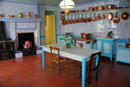 The kitchen in Monet's home.